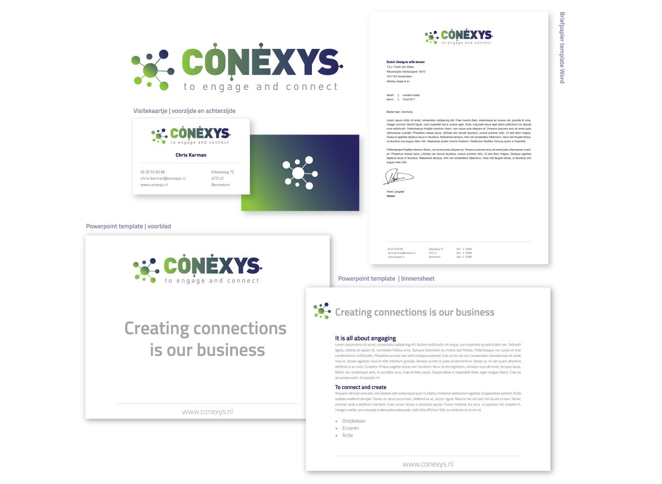 huisstijl ontwerp conexys