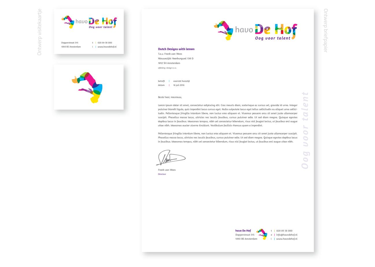 havo-de-hof-logo ontwerp